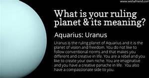 Find out your ruling planet and its meaning- Aquarius- Uranus