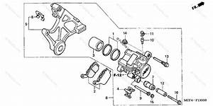 Honda Motorcycle 2004 Oem Parts Diagram For Rear Brake