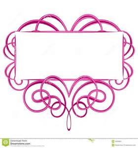 Pink Swirl Border Clip Art