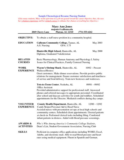 resume for students format best free nurse resume template resume templates