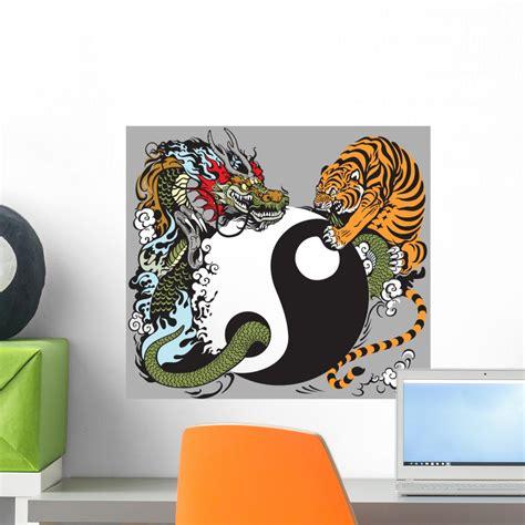 yin yang symbol with wall mural decal sticker wallmonkeys