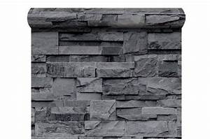 Pierre De Parement Exterieur Pas Cher : papier peint pierre de parement grise papiers peints ~ Voncanada.com Idées de Décoration