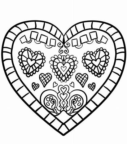 Heart Coloring Pages Printable Hearts