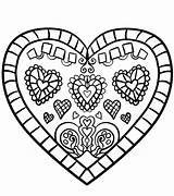 Heart Coloring Pages Printable Hearts sketch template