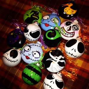 hand painted nightmare before christmas tree ornaments