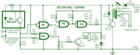 car audio system anti theft security circuit schematic