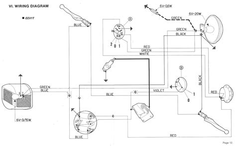 wiring diagram vespa spartan vespa electrical 171 myrons mopeds