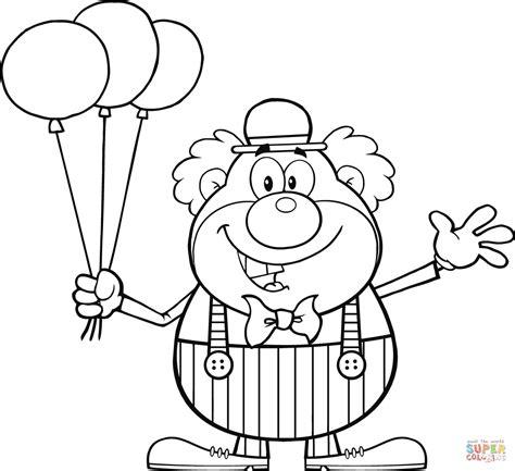 Kleurplaat Clown Met Ballonnen by Clown Met Ballonnen Kleurplaat Gratis Kleurplaten Printen