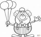 Clown Coloring Balloons Pages Happy Circus Funny Balloon Clipart Printable Cartoon Waving Vector Supercoloring Character Clip Krusty Shutterstock Drawing Birthday sketch template