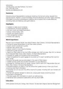 airport customer service representative resume sle professional airport representative templates to showcase your talent myperfectresume