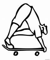 Coloring Skateboard Printable sketch template