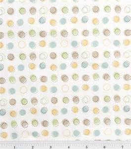 Nursery Flannel Fabric Oh Baby Stitch Dot at Joann com