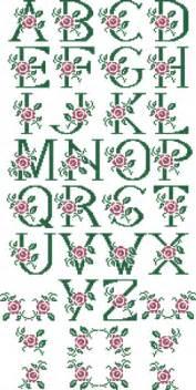 alphabets embroidery 10305 monogram alphabet cross stitch set