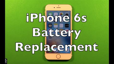 iphone  battery replacement   change youtube