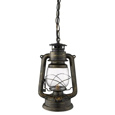 traditional lantern ceiling light black gold finish