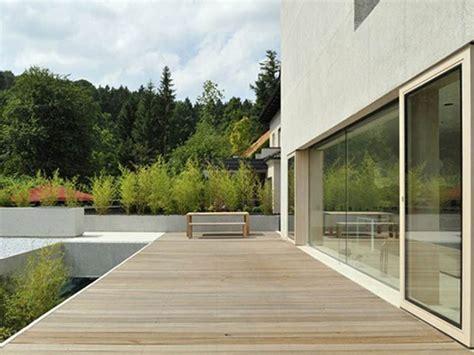modern wooden terrace  house design  ideas
