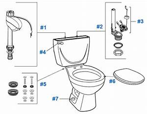 American Standard Toilet Repair Parts For Cascada Series