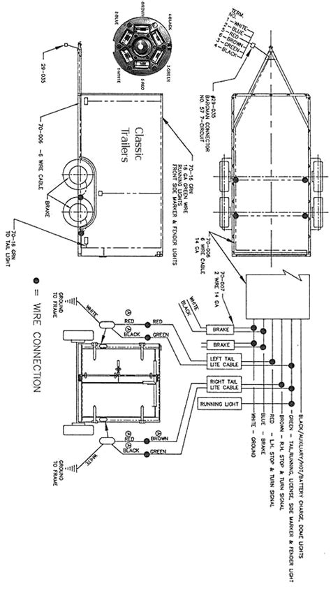 trailer wiring diagram 6 wire circuit jeep pinterest utility trailer and trailer plans