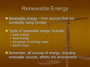 Chapter 18: Renewable Energy - ppt download