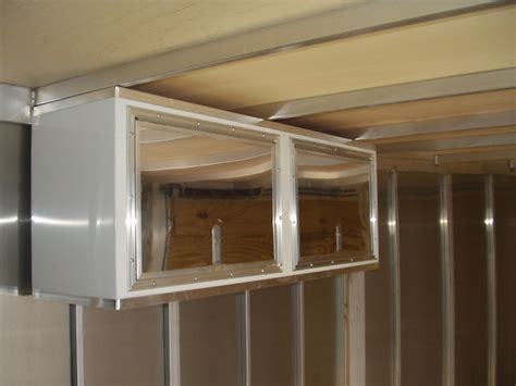 Enclosed Trailer Cabinets by R And P Carriages Enclosed Trailer Cabinet Options