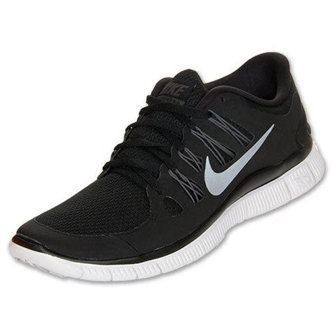Nike Free Womens Size Running Shoes Black White Silver