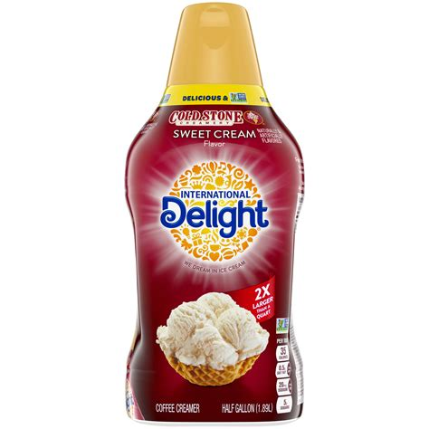 Get full nutrition facts for other international delight products and all your other favorite brands. International Delight Cold Stone Creamery Sweet Cream Coffee Creamer, 64 Oz. - Walmart.com ...
