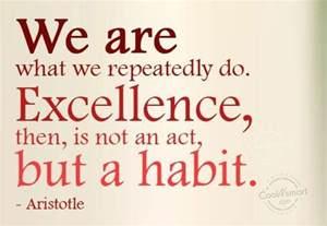 Aristotle Excellence Habit Quote