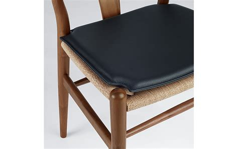 wishbone chair seat cushion design within reach