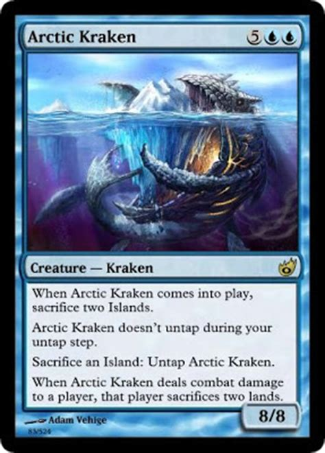 mtg shipbreaker kraken deck ancient byzantine wisdom card of the day arctic kraken