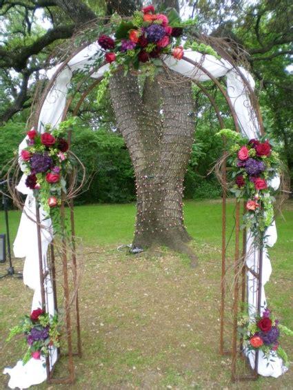 floral draped arch arch  austin tx parkcrest floral