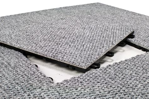 Interlocking Flooring by Modular Interlocking Carpet Tiles Premium Gray