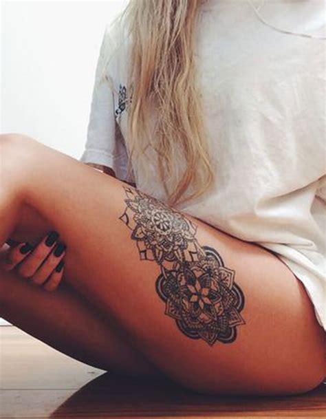 tatouage cuisse mandala  tatouages sur la cuisse qui