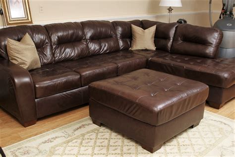 black faux leather sectional furniture faux leather sectional with ottoman