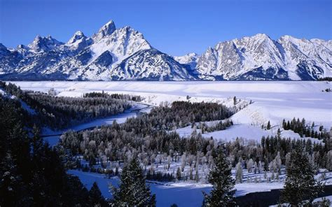 Winter Mountain Scenes Wallpaper Wallpapersafari