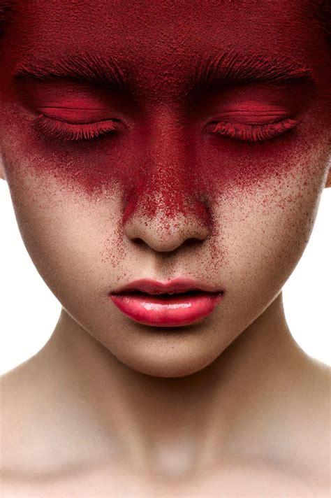 Страстный макияж в красных оттенках 58 фото . Hair Moda