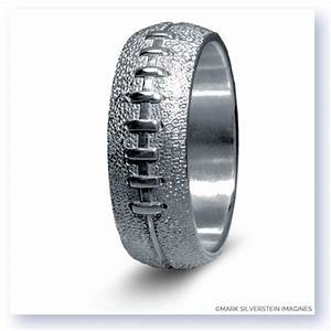 mark silverstein imagines sterling silver football themed With football wedding ring