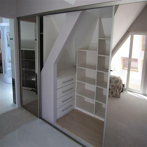 armoire pour chambre à coucher dressing sous pente sur mesure à nantes 44 rangeocean