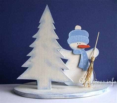 christmas wood crafts   patterns wooden snowman