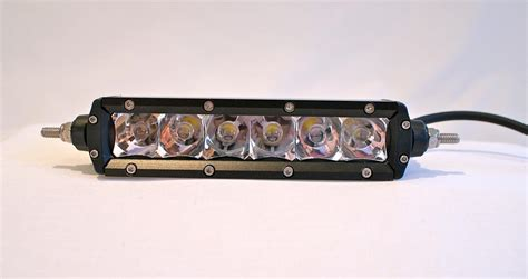 dirt bike led light bar 6 inch single row spot flood combo