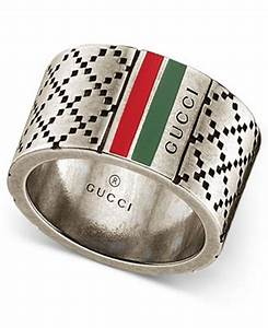 gucci men39s sterling silver diamond pattern wide ring With gucci wedding ring men