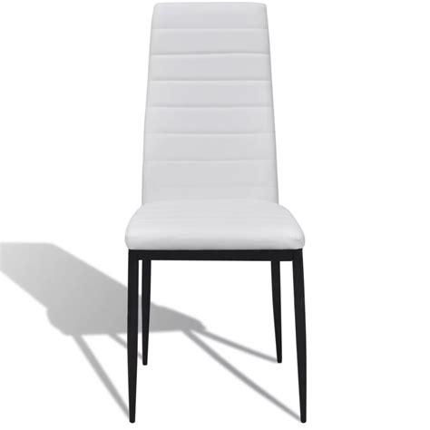 lot de 6 chaises blanches la boutique en ligne lot de 6 chaises blanches aux lignes fines avec une table en verre vidaxl fr