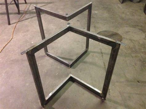 Chevron Metal Dining Table Base Legs