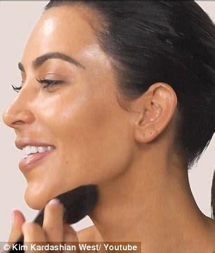 kim kardashian challenges   pro  contour face  daily mail