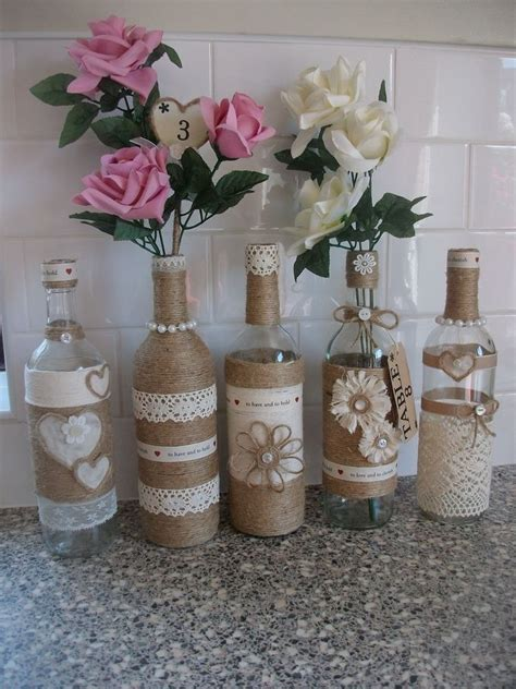 country shabby chic wedding decor rustic country shabby chic wedding decoration centre piece s pretty bottles x5 home decoras