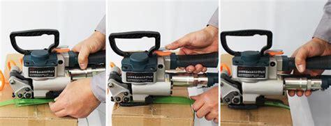protable handheld pneumatic strapping tool strap welding banding packaging baler ebay