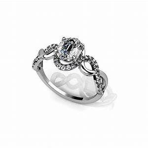 double infinity engagement ring 14k white gold by With double infinity wedding ring