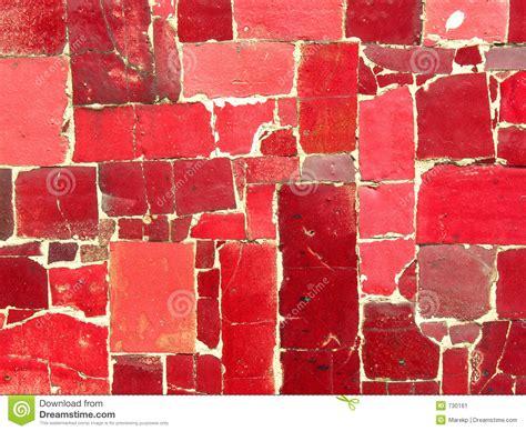 red tiles mosaic random pattern stock image image