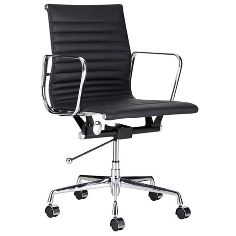 milan direct eames leather replica management office chair