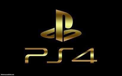 Playstation Ps4 Hintergrund Hintergrundbilder Coole Golden Schwarzen
