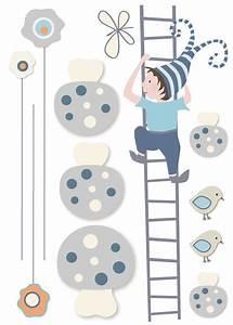 sticker bebe garcon et petit lutin grimpant a l39echelle With chambre bébé design avec livraison fleurs derniere minute